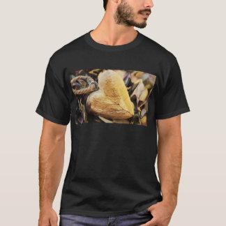 Camiseta Amor de madeira da madeira da flor do Hydrangea do
