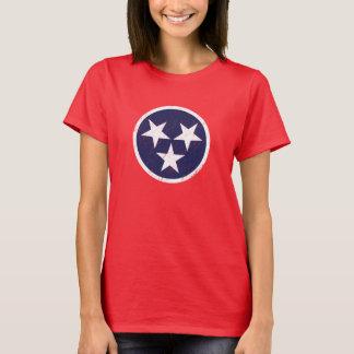 Camiseta Amor de Nashville do Grunge da bandeira do estado