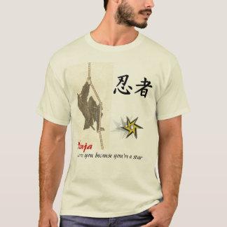 Camiseta Amor de Ninja você porque você é uma estrela