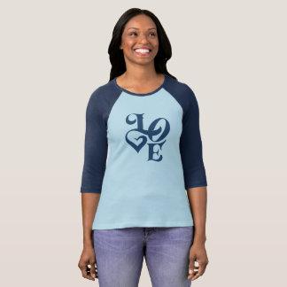 Camiseta Amor! Design da tipografia
