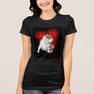 Camiseta Amor do buldogue