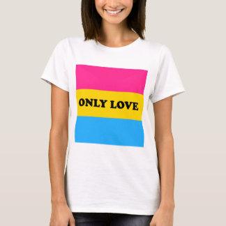 Camiseta AMOR do orgulho da bandeja SOMENTE