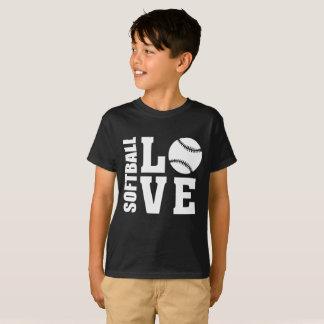 Camiseta Amor do softball, softball