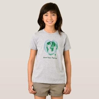 Camiseta Amor do t-shirt das meninas sua Mãe Terra