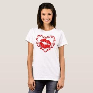 Camiseta Amor dos lábios dos namorados engraçados