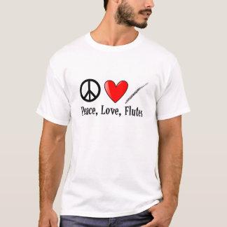 Camiseta Amor e flautas da paz