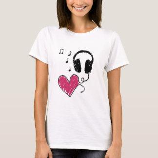 Camiseta Amor e música