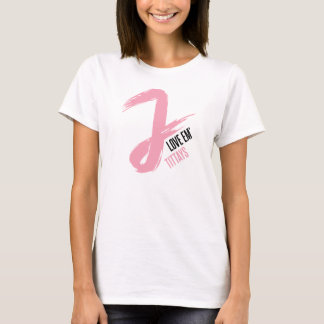 Camiseta Amor Em Tittays de J (com JWalkerz) - branco