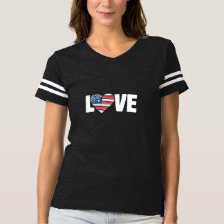 Camiseta amor EUA da bandeira americana
