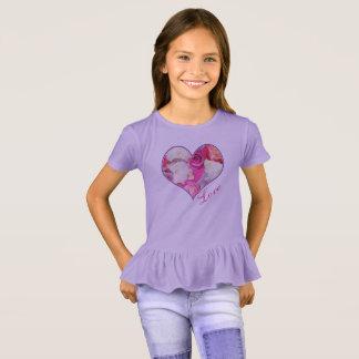 Camiseta Amor floral do coração