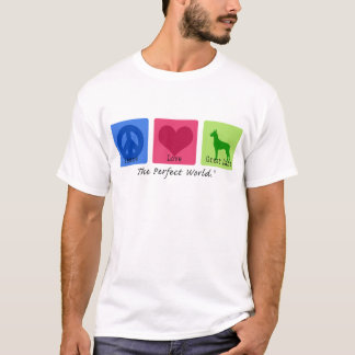 Camiseta Amor great dane da paz