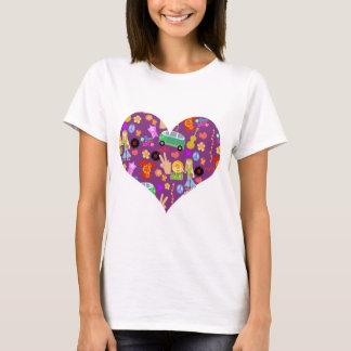 Camiseta Amor Groovy do roxo 60s