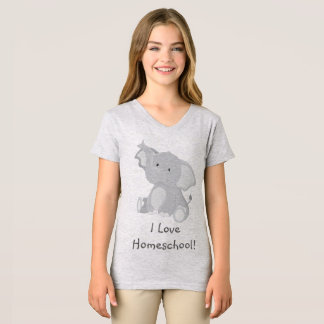 Camiseta Amor Homeschool do elefante
