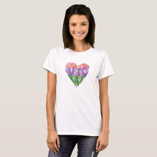 Camiseta Amor, justiça, paz - o T das mulheres