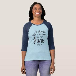 Camiseta Amor longo da sucata do vintage do t-shirt da luva