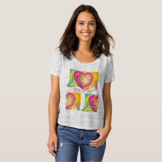 Camiseta Amor louco T do Couture da menina
