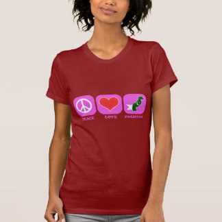 Camiseta Amor Paquistão da paz