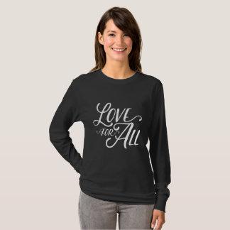 Camiseta Amor para todo o T (texto branco)
