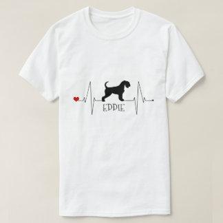 Camiseta Amor personalizado de Airedale meu batimento