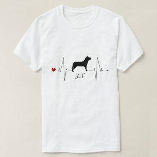 Camiseta Amor personalizado de Labrador meu batimento