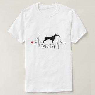 Camiseta Amor personalizado do Doberman meu batimento