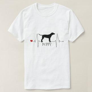Camiseta Amor personalizado do ponteiro meu batimento
