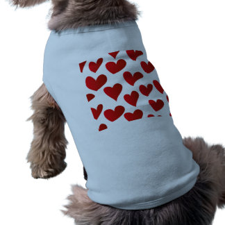 Camiseta Amor vermelho pintado teste padrão do coração da