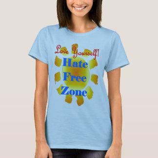 Camiseta Amor você mesmo nenhuma zona do ódio
