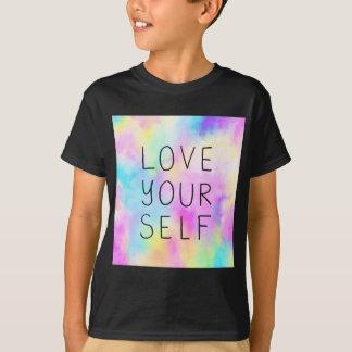 Camiseta Amor você mesmo no arco-íris Pastel