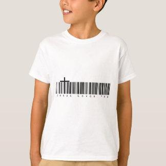 Camiseta Amores de Jesus do código de barras você
