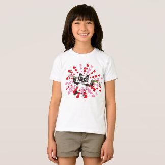 Camiseta Amores irritados da panda da cara