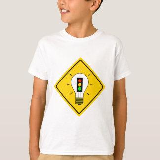 Camiseta Ampola do sinal de trânsito adiante