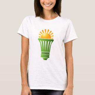 Camiseta Ampola eficiente da energia solar