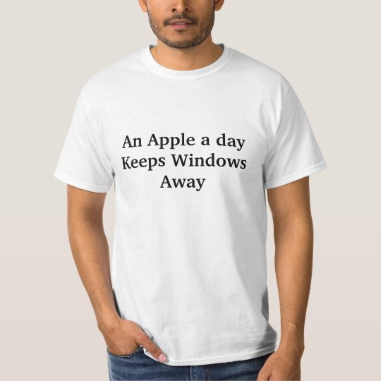 Camiseta An Apple a day keeps windows away (black2)