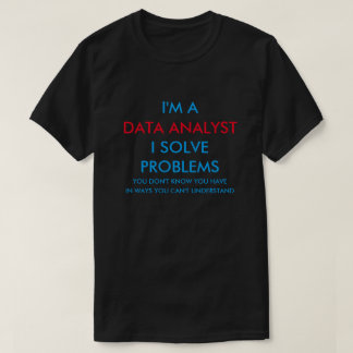 Camiseta Analista dos dados