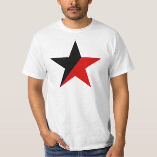 Camiseta Anarquismo preto e vermelho do