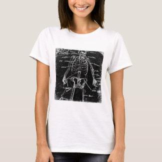 Camiseta anatomia de esqueleto humana de tokyo do yaie