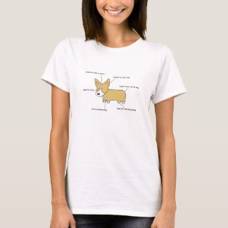 Camiseta Anatomia de um T das mulheres do corgi