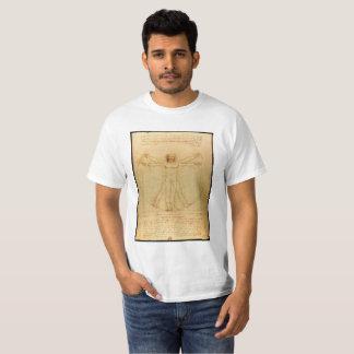 Camiseta Anatomia humana, homem de Vitruvian por Leonardo