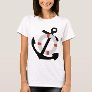 Camiseta âncora e lifesaver