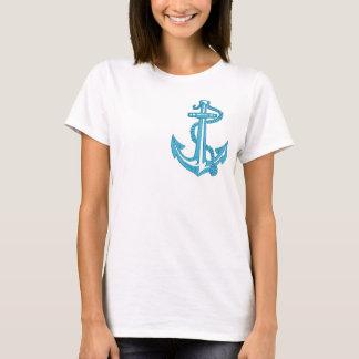 Camiseta âncora - imitação do bordado