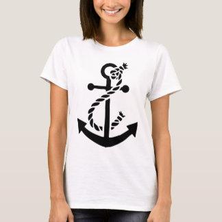 Camiseta Âncora náutica do fuzileiro naval do marinho do