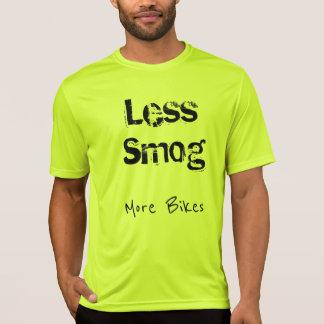 Camiseta Andando de bicicleta - menos tráfego, menos