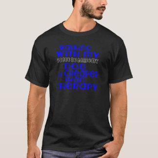 Camiseta Andar com meu Dogue de Bordéus Cão projeta