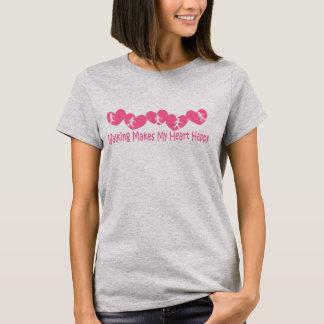 Camiseta Andar faz meu coração feliz