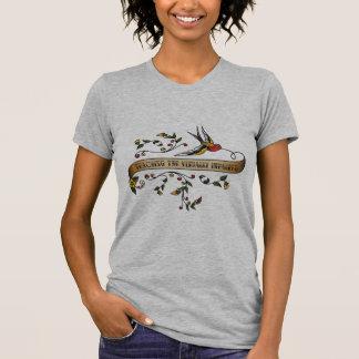 Camiseta Andorinha e rolo com ensino visualmente do Impa