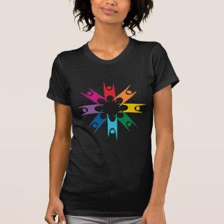 Camiseta Anel do arco-íris dos humanistas