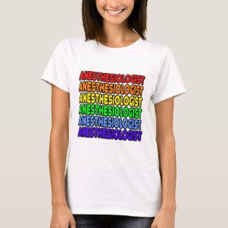 Camiseta Anesthesiologist do arco-íris