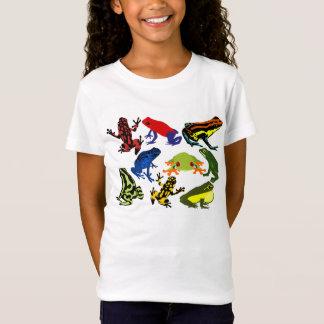 Camiseta Anfíbios do sapo dos miúdos das crianças do