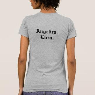Camiseta Angélica, Eliza, e Peggy. Citações de Hamilton
